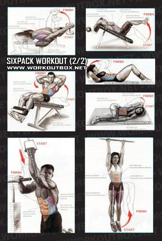 Sixpack Workout Part 1 - Healthy Fitness Exercises Gym Low Abs