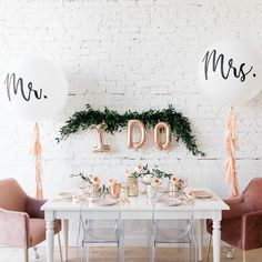 With a bridal set up like this its easy to say I Do! Adding a touch of greenery and our balloon decor is an elegant way to add to your big day! Wedding Day Wedding Planner Your Big Day Weddings Wedding Dresses Wedding bells Bridal Shower Decorations, Balloon Decorations, Wedding Decorations, Wedding Goals, Dream Wedding, Wedding Day, World Emoji Day, Wedding Honeymoons, Bridal Suite