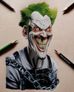 By. Borja Burgueño Moreno. #TheJoker #Harley #Joker #fanart #art #desing #color #ilustration #diseño #smile #HahaHaha #dc #comic #comics #Batman #dccomics #HarleyQuinn #Arkam