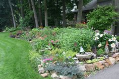Front garden viewed from the sunny side Turtle Rock, Gardens, Plants, Planters, Tuin, Plant, Garden, Planting, Formal Gardens