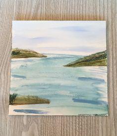 Seaview of Tulum Mexico - Plein Air - Original Watercolor Painting