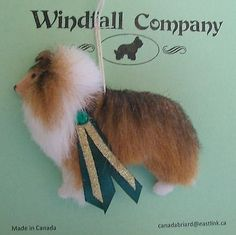 Sable Shetland Sheepdog Sheltie Dog Soft Plush Canine Christmas Ornament