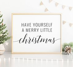 Have Yourself A Merry Little Christmas Printable Art, Christmas Decoration, Christmas Quote Prints, Merry Christmas Sign *INSTANT DOWNLOAD* Merry Christmas Sign, Merry Little Christmas, Christmas Quotes, Quote Prints, Art Prints, Office Printers, Printing Websites, Christmas Printables, Printable Art