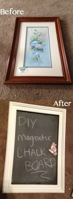 Thrift store makeover! : DIY Magnetic Chalkboard