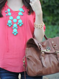Kacie's Kloset: Turquoise and Coral