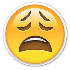 Weary Face   EmojiStickers.com