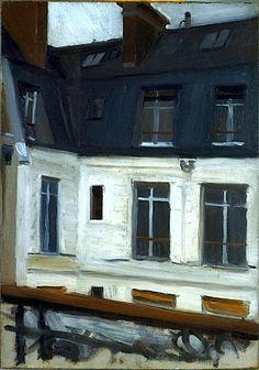 """Vista a través del Patio (en el nº 48 de la calle Lille, París)"", , 1906 Edward Hopper"