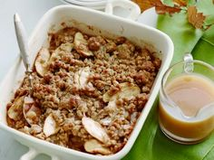 Get this all-star, easy-to-follow Apple Crumble with Cardamom-Vanilla Caramel Sauce recipe from Melissa d'Arabian