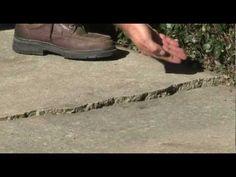 Broken Slab Concrete Foundation - Top n Bond Solution. Use masking tape.