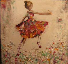 this is so beautiful! Create Collage, Inspirational Wall Art, Figure Painting, Mixed Media Art, Art Images, Art Girl, Folk Art, Paper Art, Illustration Art