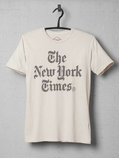 gift for her or him: new york times tee by altru. (this is my second. the first met its fate with a few sprinkles of bleach. of course.)