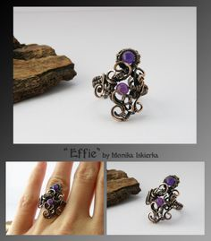 Effie- wire wrapped ring by mea00 on deviantART