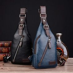 c0a880426c66 Men PU Leather Retro Portable Leisure Shoulder Bag Chest Bag Crossbody Bag  is worth buying - NewChic Mobile.