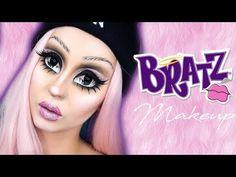 Bratz Doll Makeup HALLOWEEN 2017 | Marion Cameleon Dark Makeup, Makeup Art, Eye Makeup, Makeup Ideas, Bratz Doll Halloween Costume, Halloween Makeup, Anime Cosplay Makeup, Costume Makeup, Annabelle Makeup