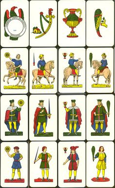 """Playing cards """"Siciliane"""", Modiano, Italy"""