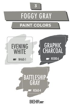 Neutral shades of gray take on a festive fall feel in this foggy gray color palette. Ranging from light to dark, colors like Evening White, Battleship Gray, and Graphic Charcoal are easy to fit into any home. Click below to get inspired.