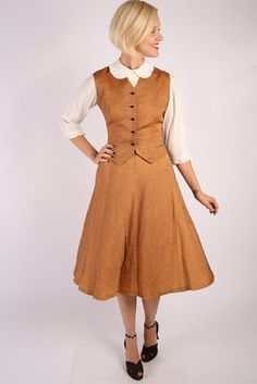 1940s Suit // vintage 40s vest & skirt // by dethrosevintage, $134.00
