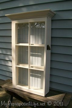 old windows to nice shelf via myrepurposedlife.net