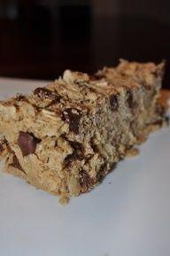 Low Fodmap Peanut Butter Chocolate Granola Bars.