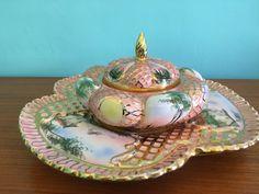 Un preferito personale dal mio negozio Etsy https://www.etsy.com/listing/291307263/anni-50-ceramica-dipinta-a-mano-made-in