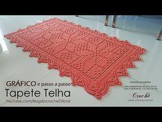 Tapete de crochê simples | Floral - JNY Crochê - YouTube