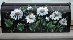 PERSONALIZED  rural residential Painted  mailbox DAISIES UV Resistant