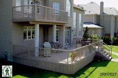 2 level deck designs | This deck plan is actually for two decks, a very large 522 sq. ft ...