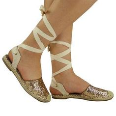Women's Glitter Casual Lace-Up Slingback Summer Sandals - gifthershoes Lace Up Sandals, Lace Up Heels, Peep Toe Heels, Suede Heels, Summer Sandals, Leopard Print Sandals, Flip Flop Shoes, Casual Heels, Fashion Shoes