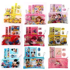 1 set children kawaii pencil case cute Kids school supplies stationery set cartoon all kinds of pencil case& Bag for boys& girls I www - List of the most creative DIY and Crafts A Christmas Story, Christmas Fun, Diy Stationery Set, Stationary, Diy Upcycling, Diy School Supplies, Knitting For Beginners, Cute Kids, Boy Or Girl