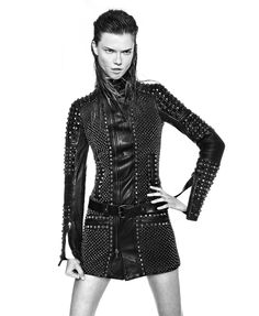 Diesel Black Gold FW13 campaign featuring Kasia Struss >>> Love the leather!