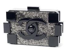 5c9a4a9daedf Chanel Lego White Lucite/Black Swarovski Crystals Clutch. Get the ...