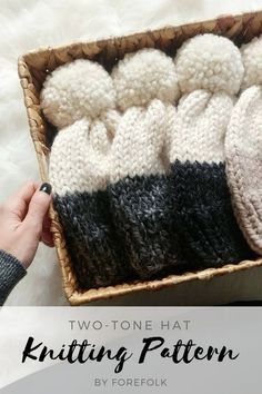 Two-Tone Hat Knittin