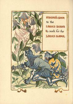 A floral fantasy in an old English garden Artist:Walter Crane Date:1899