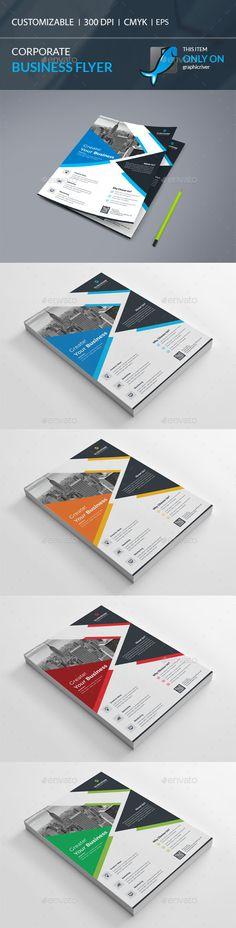 Corporate Flyer Template Vector EPS, AI Illustrator. Download here: http://graphicriver.net/item/corporate-flyer/15930686?ref=ksioks