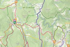 Jižní Morava - cyklostezky, cyklotrasy pro děti, mapa Grinch
