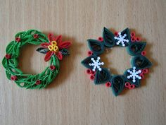 2012 Christmas decorations - my own original designs - Facebook.com/Zen Quilling