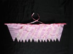 nursery bunting 7 meters pink teddies/ letters and small check baby shower party