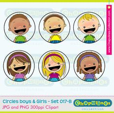 Circles Boys & Girls Digital Clipart 017 by ChapulinesCollection