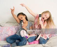 Stock Photo : Girls Singing Karaoke