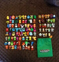 Lot of 107 Loose GoGos Crazy Bones Miniature Figures Metallic Gold Clear & More #Gogos