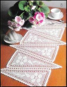 Crochet zig zag filet work ❤️LCF-MRS❤️ with diagrams ----Croche diferente - CROCHE COM RECEITAS
