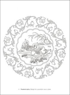 oriental coloring page - Bing Images Tambour Embroidery, Chinese Embroidery, Chinese Design, Chinese Art, Coloring Books, Coloring Pages, Asian Cards, Embroidery Transfers, Oriental Pattern