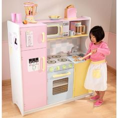 Elegant KidKraft Wooden Kitchen And Refrigerator Provides All The Fun And Fantasy  For Open Ended Imaginative