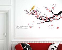 Hotportgift Plum Flowers Tree Birds Bed Room Decals Decor Art Mural Wall Stickers Removable OneHouse http://smile.amazon.com/dp/B00C9QN6MM/ref=cm_sw_r_pi_dp_DpCStb18DZ3NK33Z
