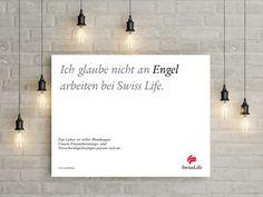 Ich glaube nicht an ENGEL arbeiten bei Swiss Life. #wendesatz