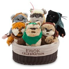 It's time for party. It's an Ewok Celebration with these cute Star Wars plush toys.