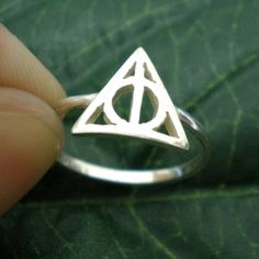 Deathly Hallows Triangle Harry Potter Ring by yhtanaff on Etsy, $29.00