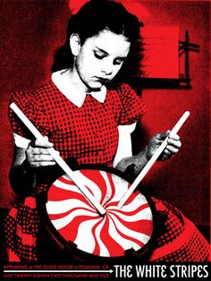 The White Stripes Classic rock psychedelic music poster  ☮~ღ~*~*✿⊱  レ o √ 乇 !! ~
