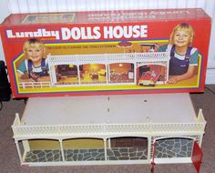 Old vintage Lundby Dolls House Luxury Villa Garage & Stable Extension with box | eBay
