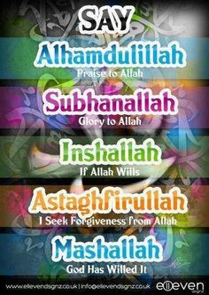 I'm not Muslim, but I love this! So beautiful. My favorite ones Alhamdulillah  Inshallah
